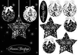 black christmas cards black and white stylish bauble christmas card cup363981 1446