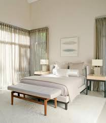 Elegant White Bedroom Curtains Interior With Sheer Curtain For Undisguised Outdoor View Homesfeed