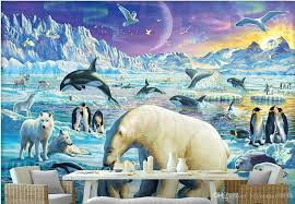 wallpaper 3d for house custom wallpaper 3d snow killer whale jump penguin polar bear animal