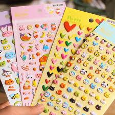 wholesale stationery 20 set 1 lot stationery scrapbooking stickers animals 3d kawaii