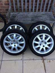 peugeot 206 gti alloy wheels with tyres in portslade east