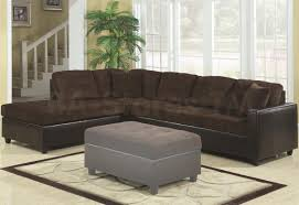 black leather sofa with brown velvet seat and back plus