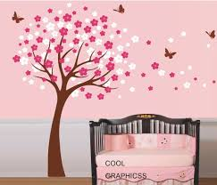 Removable Nursery Wall Decals Baby Nursery Decor Pink Wallpaper Removable Wall Decals For Baby