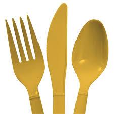 plastic silverware bulk light gold plastic utensils 48 ct packs at dollartree