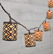 gray metal rustic decorative string lights 10 lights