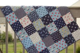 Nautical Quilt Baby Boy Quilt Crib Quilt Nautical Themed Seaworthy