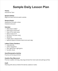 49 examples of lesson plans