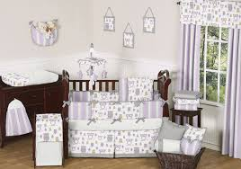 Purple Nursery Bedding Sets Lavender Gray Purple And White Owl Baby Grey Crib Bedding Set