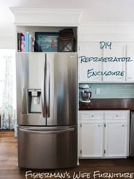 space between top of refrigerator and cabinet refrigerator enclosure custom look cabinets a built in for your