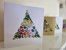 learn with play at home simple bubblewrap christmas cards made by