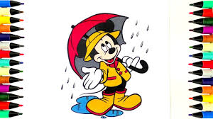 coloring pages mickey mouse in the rain disney coloring book for