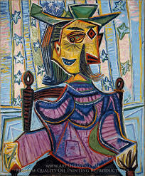 An Armchair Pablo Picasso Inspired By Dora Maar In An Armchair Painting