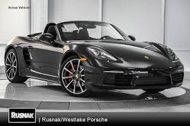 black porsche convertible used 2017 porsche 718 boxster los angeles stock 87479d