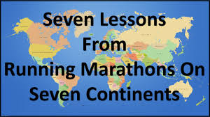 Seven Continents Map Seven Lessons Anthony Reed Cpa Pmp