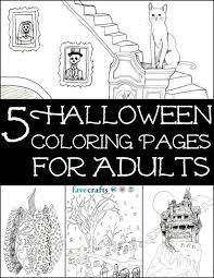 5 free halloween coloring pages adults pdf favecrafts