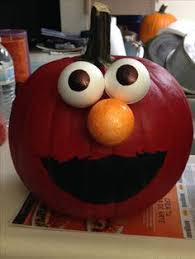 elmo painting painted sesame pumpkins for the baby s 1st