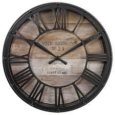 Grande Horloge Murale Carrée En Bois Vintage Achat Horloge Murale Sous Vitrine En Métal D39cm Vintage Déco Toute La