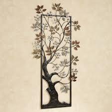 home design colorful metal wall art tree window treatments