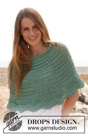 drops design poncho spearmint drops 147 35 free crochet patterns by drops design