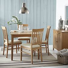 6 Seater Oak Dining Table And Chairs Buy John Lewis Alba 4 6 Seater Extending Dining Table John Lewis