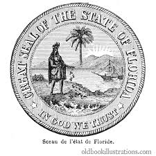 Florida State Flag Image Florida State Seal U2013 Old Book Illustrations