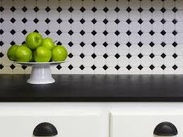 Best Black And White Kitchens Images On Pinterest Kitchen - Black and white kitchen backsplash