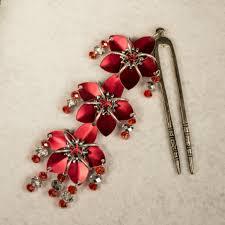hair fork sparkly flower hair fork a of random