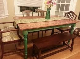 Farmhouse Style Dining Room Table by Farm Style Dining Table