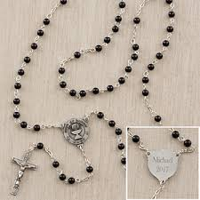 personalized rosary personalized communion rosary for boys onyx