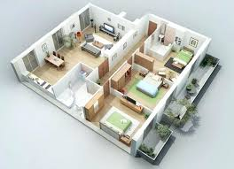 3 Bedrooms House Plans Designs 3 Bedroom House Plan