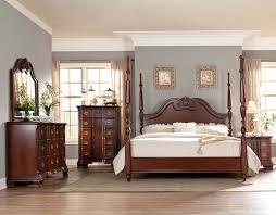 homelegance guilford poster bedroom set brown cherry b2155