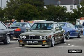 bmw e30 slammed ni bmw show 2015 fitted state