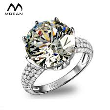 Big Wedding Rings by Aliexpress Com Buy Mdean Big Aaa Zircon Jewelry White Gold Color