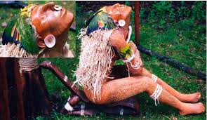 jamaican wood sculptures about the anansi stories artist