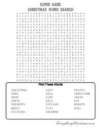 printable hard word games hard printable word searches for adults christmas word search