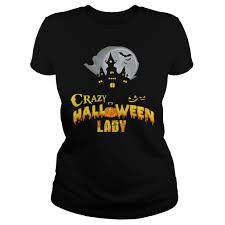 halloween logo black background crazy halloween lady shirt