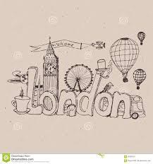 city london freehand sketch stock illustration image 65565951