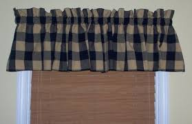 free navy blue buffalo check country curtain valances other