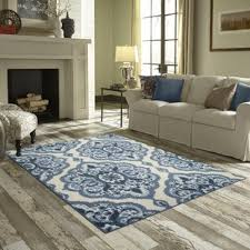 area rug in living room blue rugs you ll love wayfair