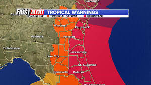 Map Of St Augustine Fl Tracking The Eye Of Hurricane Matthew As It Approaches