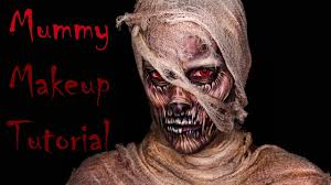 mummy classic monster halloween makeup tutorial youtube