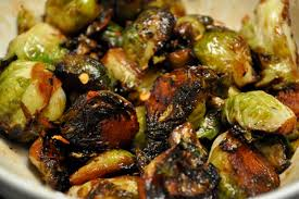 thanksgiving sides brussels sprouts in honey butter with chili