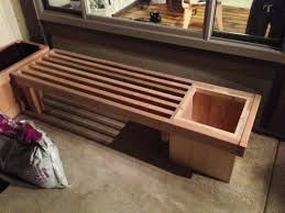 2x4 bench with planter nice bke woodworking bench plans