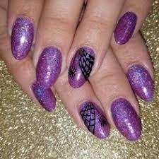 galaxy mountain range easy new years eve nail designs