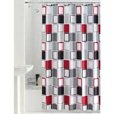Gray Shower Curtains Fabric Mainstays Aperture Fabric Shower Curtain Walmart