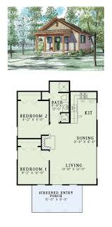 1 bedroom cabin plans tiny house plan 82343 total living area 2 bedrooms and 1