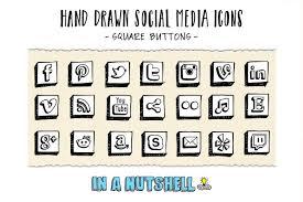 hand drawn vector social media icons icons creative market