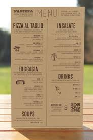 restaurants with light menus restaurant brand identity napizza miller creative menu across