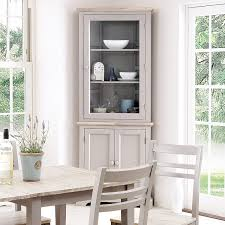 florence corner display cabinet truffle glass corner dresser 2