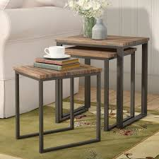 3 piece nesting tables laurel foundry modern farmhouse perry 3 piece nesting tables